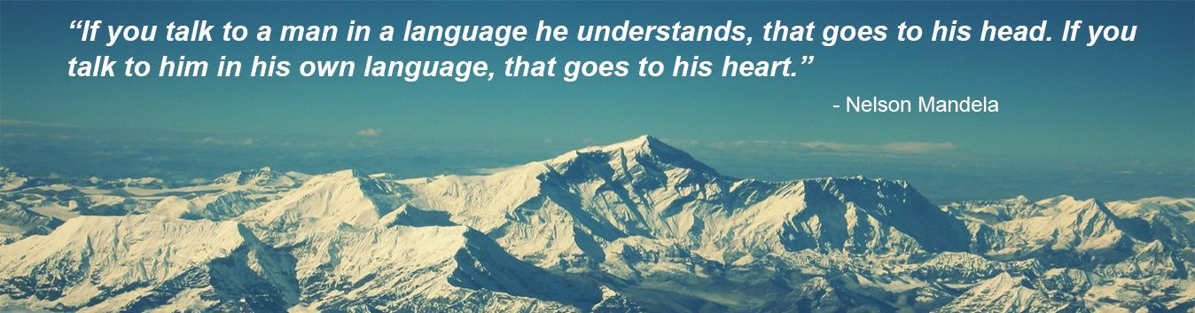 Nelson Mandela's quote on language